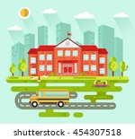 vector flat style illustration... | Shutterstock .eps vector #454307518