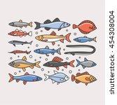 fishes  vector illustration | Shutterstock .eps vector #454308004