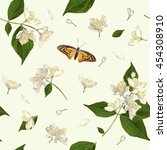 vector seamless pattern with... | Shutterstock .eps vector #454308910