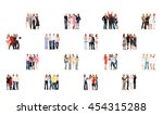 isolated groups workforce... | Shutterstock . vector #454315288