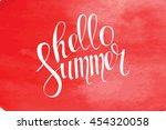 summer watercolor design....   Shutterstock . vector #454320058