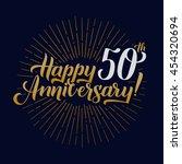 happy anniversary calligraphic... | Shutterstock .eps vector #454320694