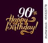 happy birthday calligraphic... | Shutterstock .eps vector #454320778