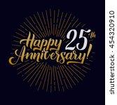 happy anniversary calligraphic... | Shutterstock .eps vector #454320910