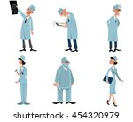 vector illustration of a six... | Shutterstock .eps vector #454320979