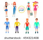 detailed people character.... | Shutterstock . vector #454321408