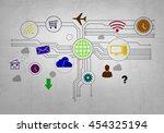 user interface | Shutterstock . vector #454325194