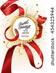 grand opening invitation card... | Shutterstock .eps vector #454325944