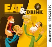 food and drink illustration... | Shutterstock .eps vector #454329850