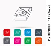 club music icon. dj track mixer ... | Shutterstock .eps vector #454331824