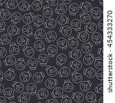 seamless monochrome flat line... | Shutterstock .eps vector #454333270