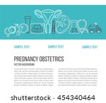 banner template with different... | Shutterstock .eps vector #454340464