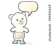 cartoon cute little bear with... | Shutterstock . vector #454341619