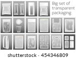 big set. transparent empty... | Shutterstock .eps vector #454346809