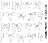 bow seamless pattern. hand...   Shutterstock .eps vector #454356328