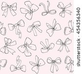 seamless vector pattern with... | Shutterstock .eps vector #454356340