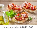 delicious traditional italian... | Shutterstock . vector #454361860