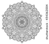 vector mandala for coloring. | Shutterstock .eps vector #454362004