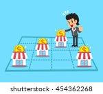 cartoon businesswoman earning... | Shutterstock .eps vector #454362268