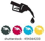 gas pump handle icon | Shutterstock .eps vector #454364233