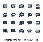 speech bubbles vector icon set