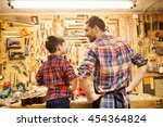 family  carpentry  woodwork and ...   Shutterstock . vector #454364824