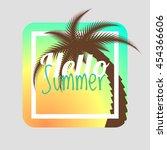 hello summer. summer card.... | Shutterstock .eps vector #454366606