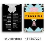 annual report brochure template ... | Shutterstock .eps vector #454367224