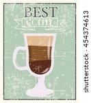 retro coffee background ...   Shutterstock .eps vector #454374613