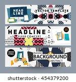 trendy geometric flat pattern ... | Shutterstock .eps vector #454379200