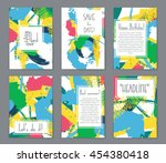 abstract vector layout... | Shutterstock .eps vector #454380418
