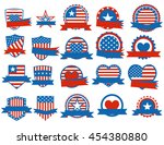 set of various made in the usa... | Shutterstock . vector #454380880