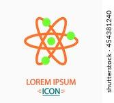 atom flat icon on white...
