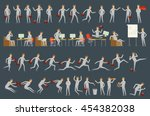 large vector set of businessman ... | Shutterstock .eps vector #454382038