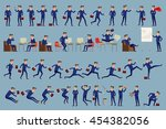 large vector set of businessman ... | Shutterstock .eps vector #454382056