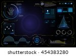 abstract hud ui interface data... | Shutterstock .eps vector #454383280