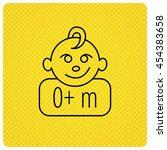 baby face icon. newborn child... | Shutterstock .eps vector #454383658