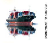 logistics and transportation of ... | Shutterstock . vector #454383910