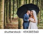 beautiful bride and groom... | Shutterstock . vector #454385560