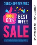 sale poster template. best... | Shutterstock .eps vector #454388884
