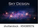 magic space. fairy dust.... | Shutterstock .eps vector #454389076