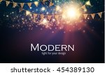 abstract shining party... | Shutterstock .eps vector #454389130