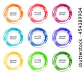 colorful round abstract banners.... | Shutterstock .eps vector #454389904