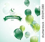 14 august.pakistan independence ... | Shutterstock .eps vector #454391380