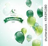 14 august.pakistan independence ... | Shutterstock .eps vector #454391380