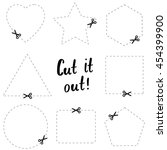 cut it out flat template. the... | Shutterstock .eps vector #454399900