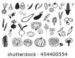 vegetables graphic set | Shutterstock . vector #454400554