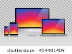 device set of realistic... | Shutterstock .eps vector #454401409