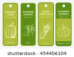 set of hand drawn labels with... | Shutterstock . vector #454406104