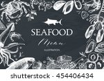 vector card or menu design with ... | Shutterstock .eps vector #454406434